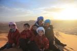 Sunrise in the Sahara desert. Erg Chebbi, Morocco